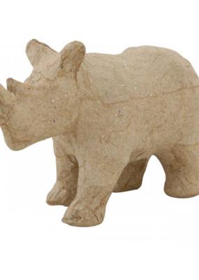 Papier Mache Paper Mache Rhinoceros 4.5 X 2.5
