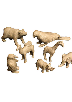 Papier Mache Paper Mache Bear 4.5 x 3.75 Inch