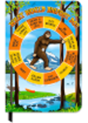Archie McPhee Bigfoot Spinner Notebook