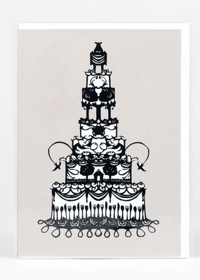 Nikki McClure Card Wedding Cake