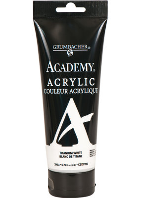Grumbacher Academy Acrylics 200ml Tube Titanium White