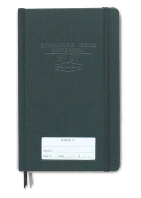 Designworks Ink Standard Issue Notebook Green Bookcloth Dot Grid