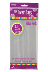 Darice Clear Treat Bag 4 x 9 60 Pieces