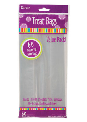Darice Clear Treat Bag 4 x 9 60 Pieces
