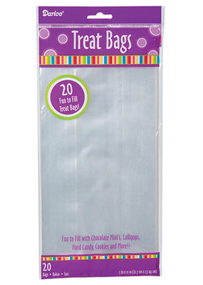 Darice Treat Bag Clear 5 X 11 Inch 20 Piece Pack