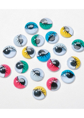 Darice Googly Eyes Printed Assorted Colors Round 10mm 30 Pieces