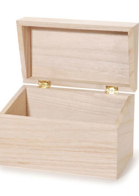 Darice Wood Recipe Box Unfinished 6 x 3 Inch