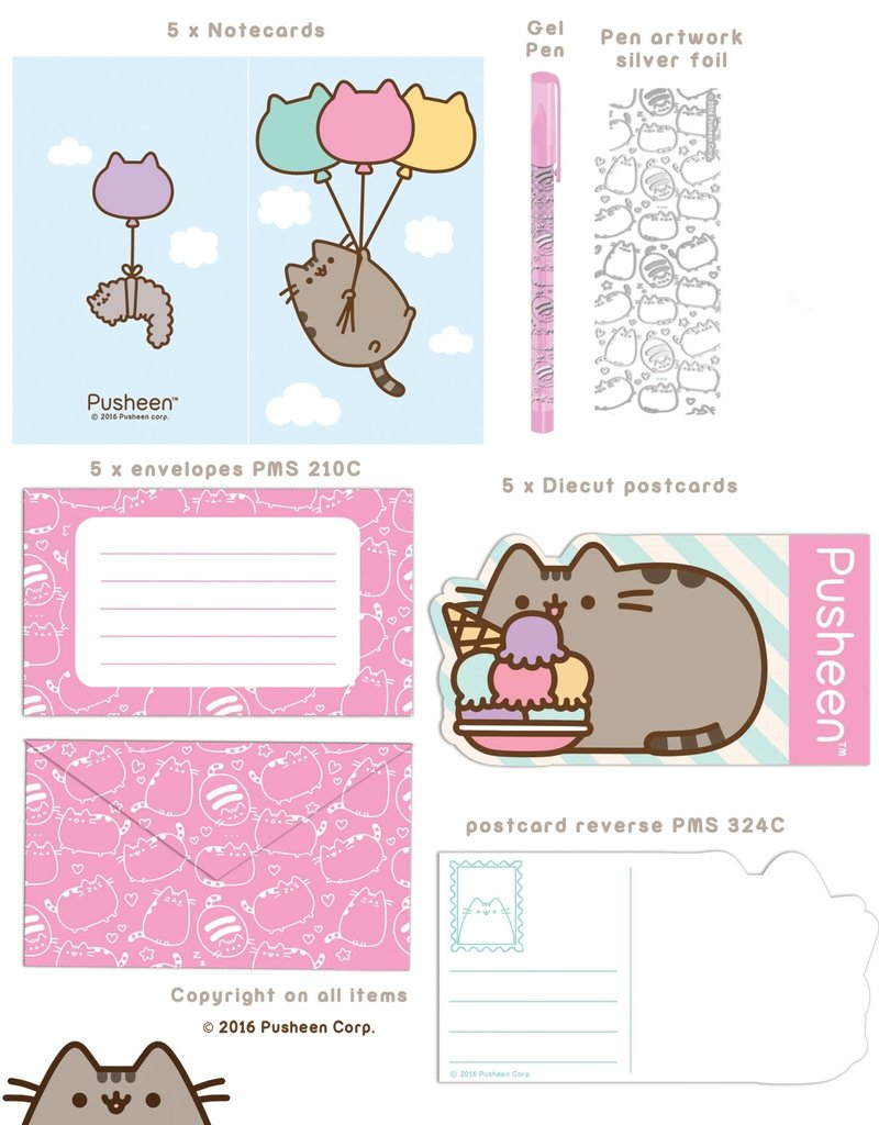Sterling Pusheen Writing Set