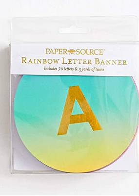 Waste Not Letter Banner Ombre Rainbow