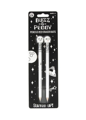 Suck UK Pencil People Buzz and Peggy Astronauts
