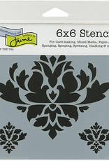 The Crafter's Workshop 6 x 6 Stencil Brocade Decor