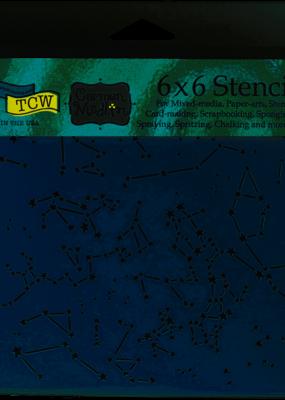 The Crafter's Workshop 6 X 6 Stencil Constellations