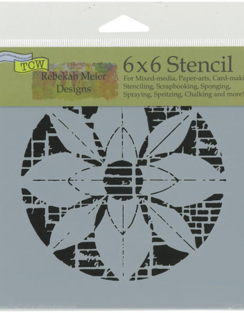 The Crafter's Workshop 6 x 6 Stencil Flower Grid