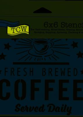 The Crafter's Workshop 6 x 6 Stencil Fresh Coffee