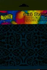The Crafter's Workshop 6 x 6 Stencil Scrollwork