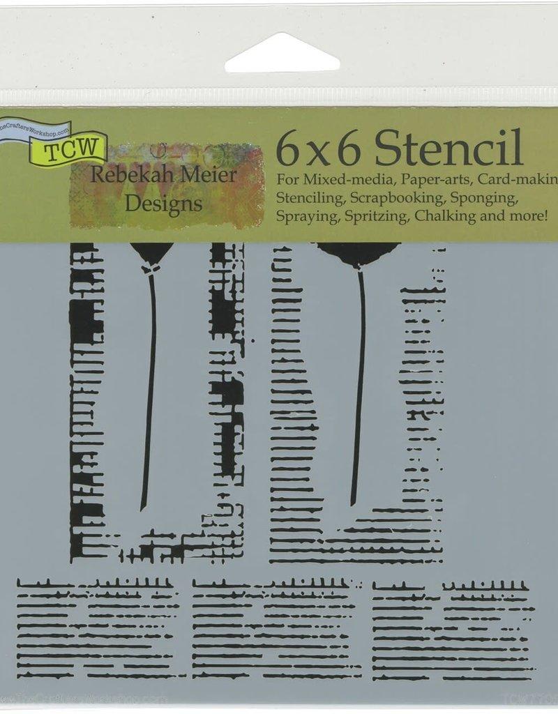 The Crafter's Workshop 6 x 6 Stencil Wildflower Duet