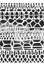 The Crafter's Workshop 6 x 6 Stencil Modern Lace