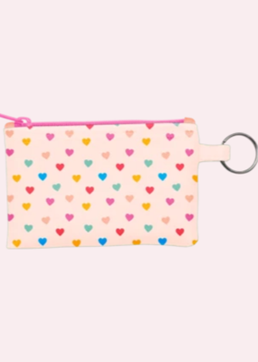 Talking Out Of Turn Penny Key Ring Pouch Tiny Hearts