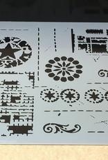 The Crafter's Workshop 6 X 6 Stencil Brazen Star