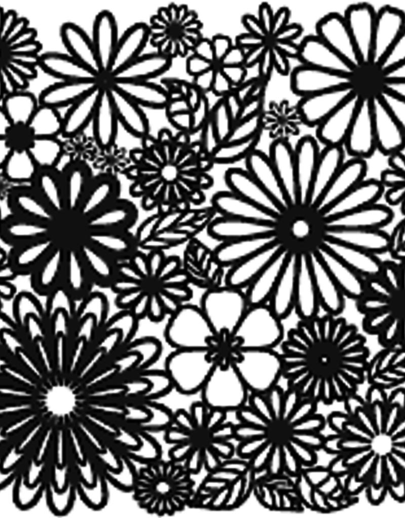 The Crafter's Workshop 6 x 6 Stencil Flower Frenzy
