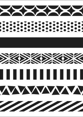 The Crafter's Workshop 6 X 6 Stencil Pattern Strips