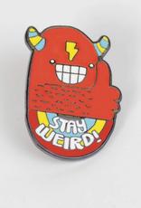 Sock It To Me Enamel Pin Stay Weird