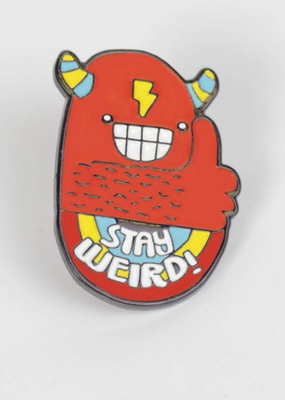 Sock It To Me Enamel Pin Stay Weird
