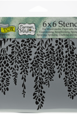 The Crafter's Workshop 6 x 6 Stencil Wisteria