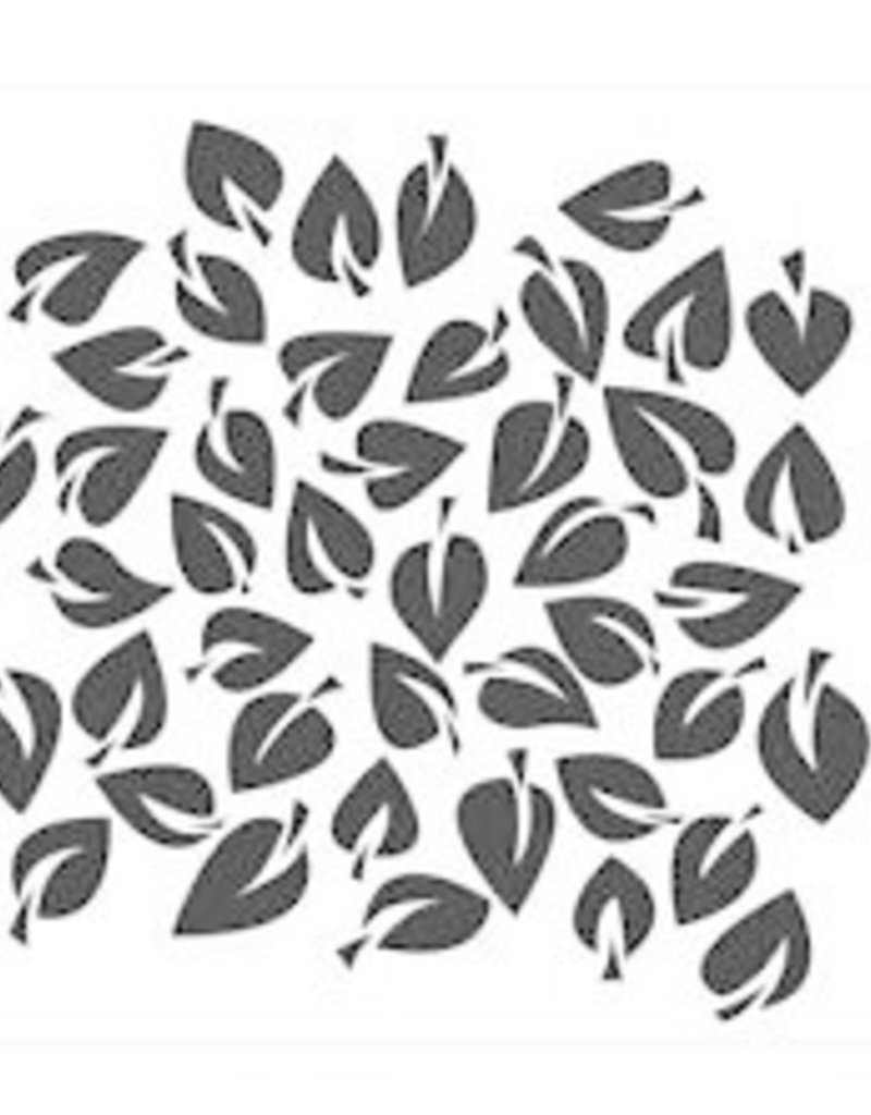 The Crafter's Workshop 6 X 6 Stencil Dancing Leaves