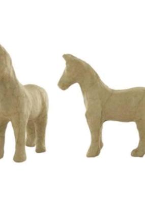 Papier Mache Paper Mache Horse Style 3  4.75 X 4.5 Inch