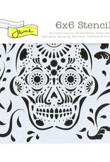 The Crafter's Workshop 6 X 6 Stencil Mexican Skull