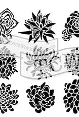 The Crafter's Workshop 6 X 6 Stencil Pretty Succulents
