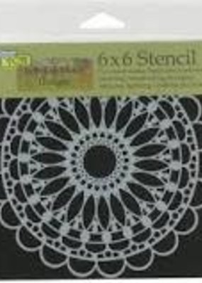 The Crafter's Workshop 6 x 6 Stencil Scalloped Mandala