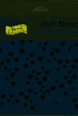The Crafter's Workshop 6 X 6 Stencil Mini Heart Key