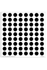 The Crafter's Workshop 6 X 6 Stencil Circle Grid