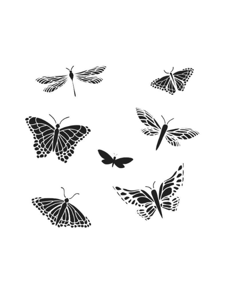 The Crafter's Workshop 6 X 6 Stencil Mariposas