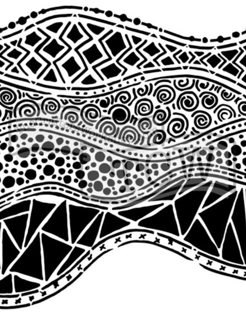 The Crafter's Workshop 6 x 6 Stencil Crazy Waves