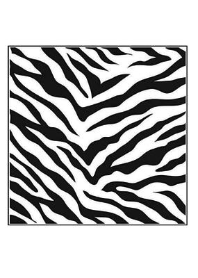 The Crafter's Workshop 6 X 6 Stencil  Zebra Print