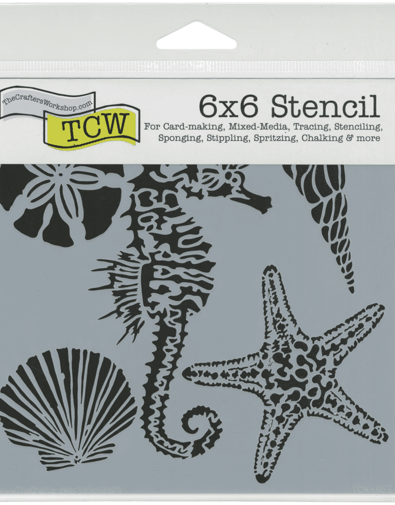The Crafter's Workshop 6 x 6 Stencil Sea Creatures