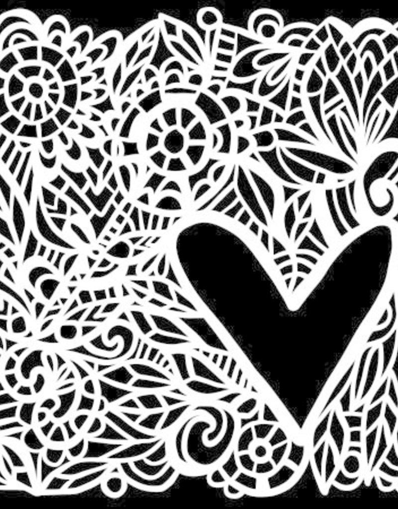The Crafter's Workshop 6 x 6 Stencil Love Frame
