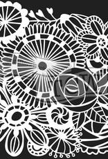The Crafter's Workshop 6 x 6 Stencil Blooming Garden