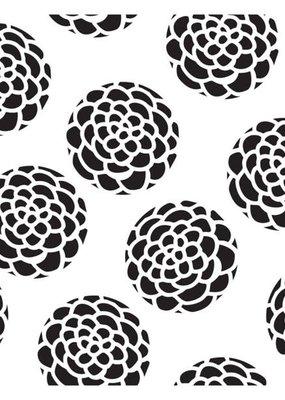 The Crafter's Workshop 6 X 6 Stencil Scallop Flower