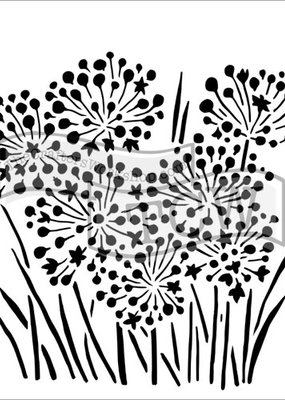 The Crafter's Workshop 6 x 6 Stencil Onion Blossoms