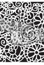 The Crafter's Workshop 6 x 6 Stencil Swirly Garden