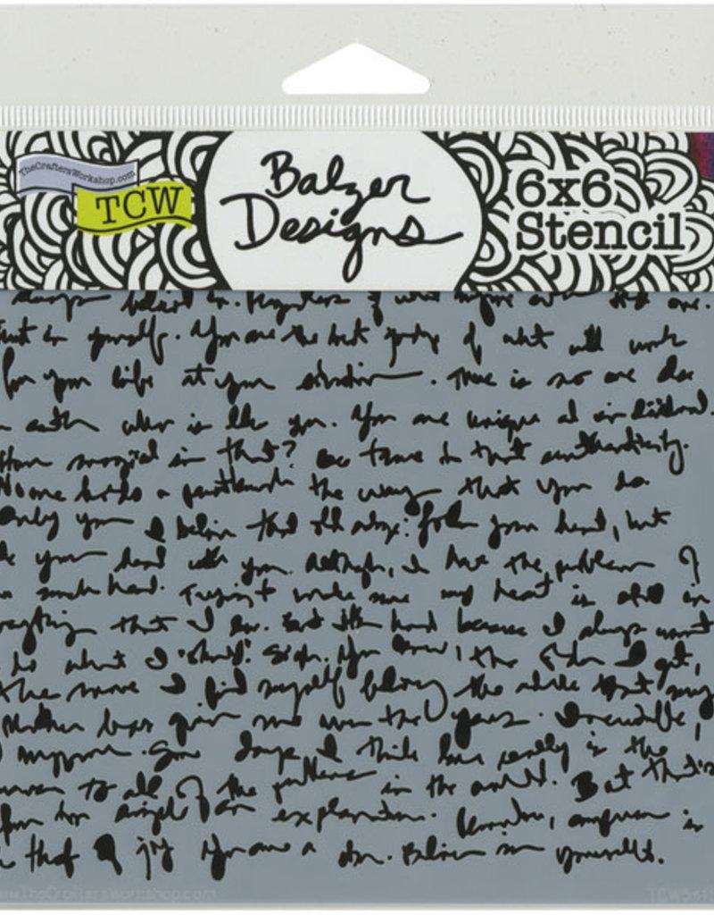 The Crafter's Workshop 6 x 6 Stencil Believe Script