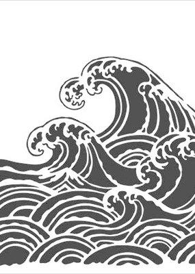 The Crafter's Workshop 6 x 6 Stencil Wave