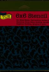 The Crafter's Workshop 6 x 6 Stencil Endless Swirls