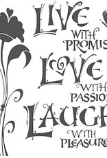 The Crafter's Workshop 6 x 6 Stencil Live Love Laugh