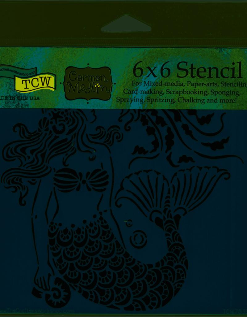 The Crafter's Workshop 6 x 6 Stencil Mermaid Dreams