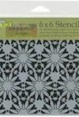 The Crafter's Workshop 6 x 6 Stencil Tuscan Floral